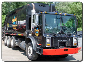 Garbage truck for residential garbage collection